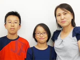 翔鸞小 4年生、6年生 藤本唯佳さん、琉生さんとお母さま