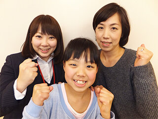 中学 2年生 齊藤 美桜さんとお母さま
